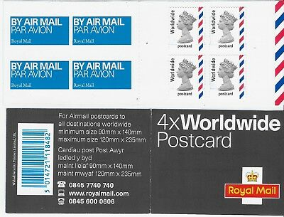 2004 GB MJA1 Worldwide Postcard Booklet Variety Short Bands Bottom