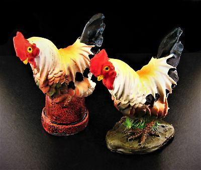 Miniature Fairy Garden Set of Two Roosters - Buy 3 Save $5