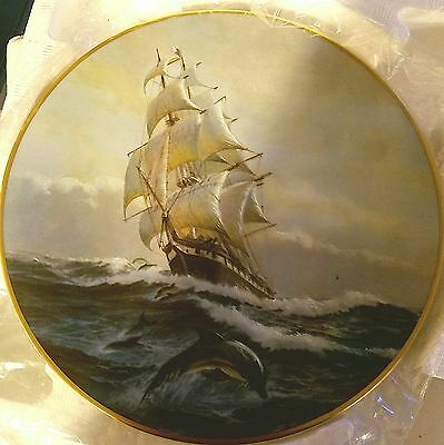 The Golden Age of Sail collectors plates. first, second, seventh, and twelve