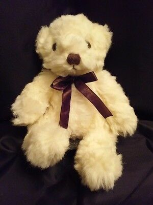 Butterworth Cream Teddy Bear by Russ. Bears from the past. Vintage plush. 8 in.