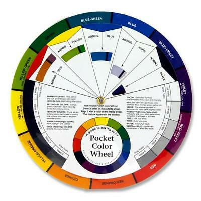 Pocket Colour Wheel 13cm Compact Paint Mixing Learning Guide. Art Class Teaching
