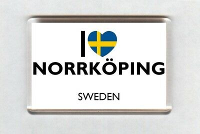 I Love Norrköping Fridge Magnet • Sweden Gift