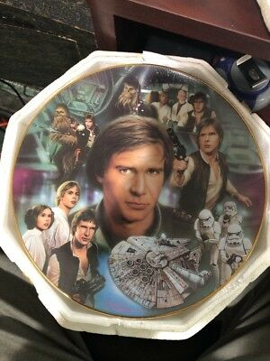 Star Wars Han Solo Collector's Plate Hamilton Collection #3928d