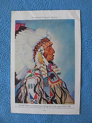 1944 Print - One Bull, Nephew & Adopted Son of Sitting Bull, Fought Custer