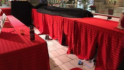 6' ft. Custom Fitted Polyester Tablecloth Table Cover Wedding Banquet Party Red