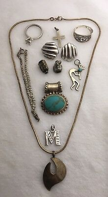Sterling Silver Jewelry Lot For Scrap Or Resale 45g