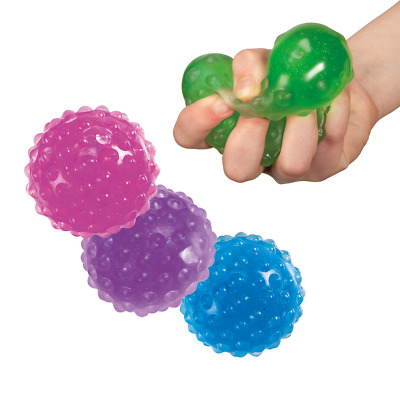 1 Gel squeeze sensory stress ball autism toy special needs therapy knobby