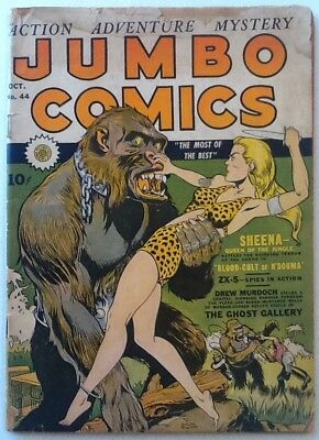 Jumbo Comics #44 GD 2.0 1943 Fiction House Bondage GGA