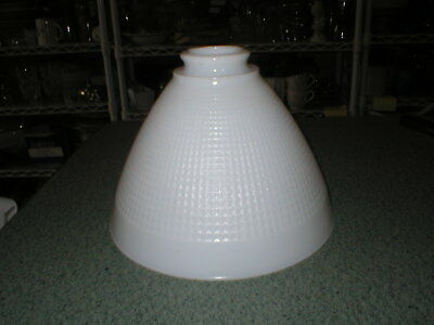 "Vtg Waffle Milk Glass Torchiere Diffuser Floor Lamp Shade  5 3/4"" T 2 1/4"" Fitte"