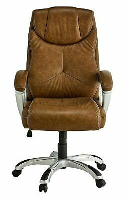 X-Rocker Leather Effect Executive Chair - Brown - G05