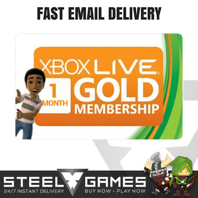 ONE 1 Month Xbox Live Gold Membership Subscription for Xbox One 360 FAST DELIVER