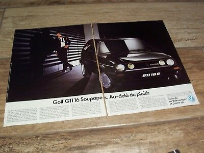 Publicité magazine /  Advertising AD   VOLKSWAGEN Golf GTI 16S 1987 //