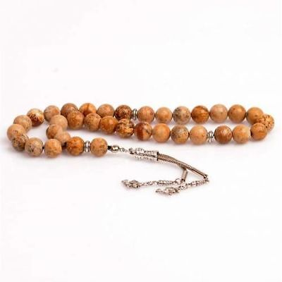 Islamıc Prayer Beads,JASPER stone  turkish tasbih,Tesbih Misbaha 33 beads