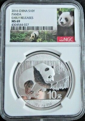 2016 NGC MS69 China Silver Panda 30g EARLY RELEASES