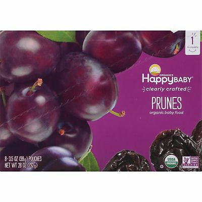 Happy Baby Organics Prunes Baby Food 3.5 Oz (8 Pouches)