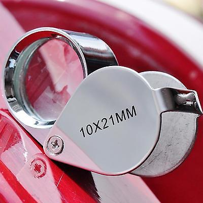 Jeweler's loupe triplet 10x magnifier 10x21mm in box and case