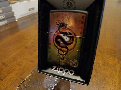 Anne Stokes Chinese Dragon Yin Yang Zippo Lighter Mint In Box