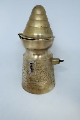 Old Antique Vintage Rare Brass Islamic Dallah Arabic Coffee Tea Pot Middle East