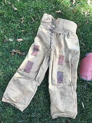 Old RARE Antique 1920's AG SPALDING & Bros. Canvas & Wool Football Pants Vintage
