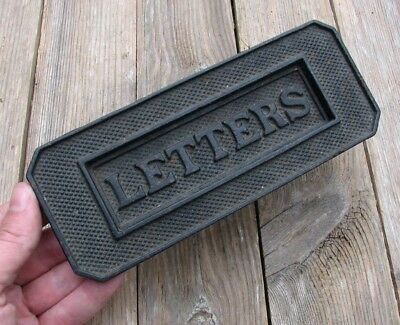 Old Reclaimed Cast Iron Letter Box Plate / Door Mail Slot WORKING SPRING Mailbox
