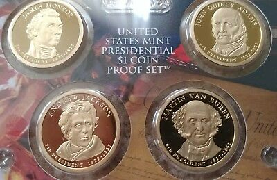2008 S 4 coin Proof set Presidential Dollars original package w/ COA