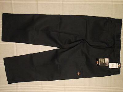 Dickies Pants 38X30 Navy Blue Double Knee Work Loose Extra Pocket Stain Release