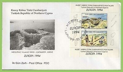 Cyprus (Turkish Posts) 1994 Europa miniature sheet on First Day Cover