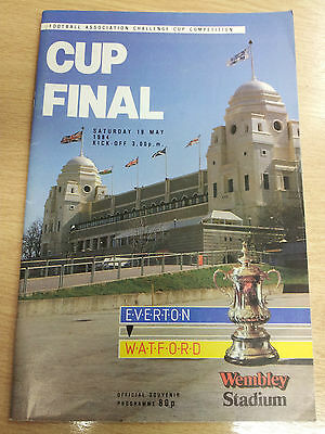 1984 FA CUP FINAL EVERTON v WATFORD