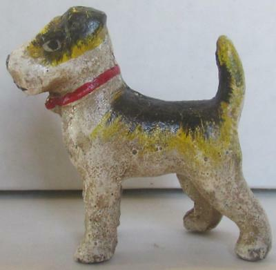Very Nice Vintage Hubley Terrier Cast Iron Paperweight # 2