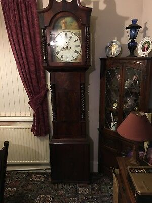 Longcase Grandfather Clock 8day mahogany restore