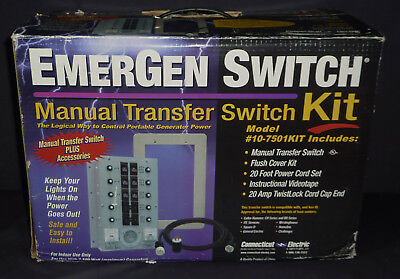 EmerGen 10-7501KIT Emergency Generator Transfer Switch 30A @250VAC - NEW