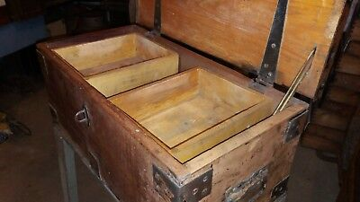 vintage small tool chest