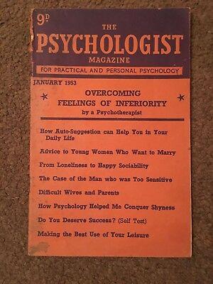 The Psychologist Magazine 1953 to 1963 vintage