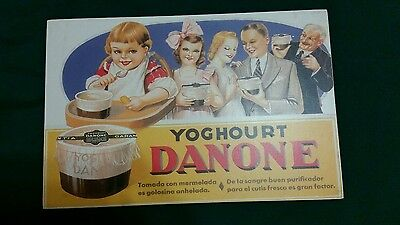 Yoghourt Danone Sign Advertising Fruit Dairy French Poster Plaque Print