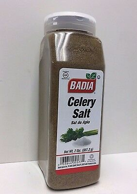 2 lbs Bottle-Celery/Salt/Powder/Sal/de/Apio/Molido/Gluten Free/Kosher/32 oz