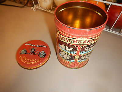 VTG 1979 National Biscuit Company Barnum's Animal Cracker Tin  -Repo of 1914 tin