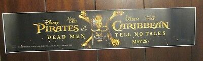 "Pirates of the Caribbean Dead Men Tell No Tales  5""x25"" Orig Mylar Movie Poster"