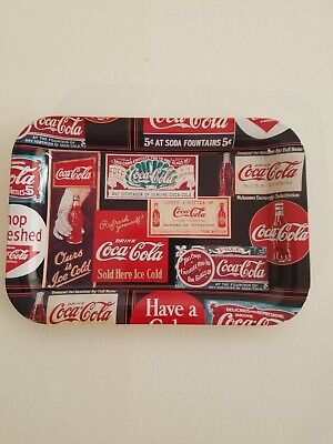 Coca Cola Rectangle Metal Tray issued in 2002
