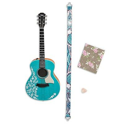 NEW- American Girl Doll Tenney Grant -Accessories Guitar, Strap, Pick & Notebook