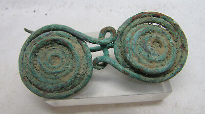 Late Bronze Age Early Iron Age La Tene Coiled Spectacle Brooch Very Rare