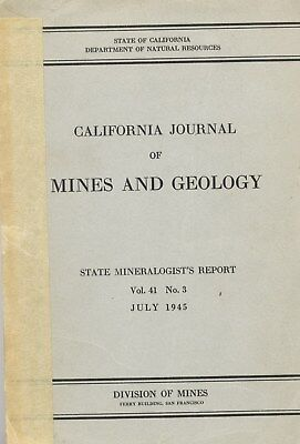 LAST ONE: every gold mine in Riverside County, Calif; old report, BIG sep. map !