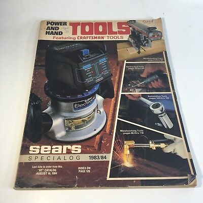 Vintage Sears Craftsman Tool  Catalog 1983/84 Power/ Hand Tools Special Edition