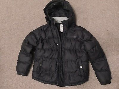 Boys Timberland puffer jacket T26419  Black Size XS  12yr 150 cm Detachable hood