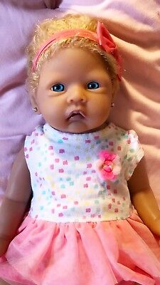 Full Body Solid Silicone Baby Girl Doll New