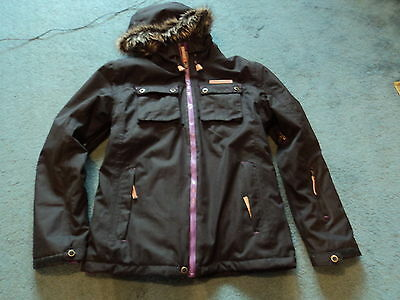 No Fear Boost Ski Snowboarding Jacket Black Size 11-12 Years Large Girls  New