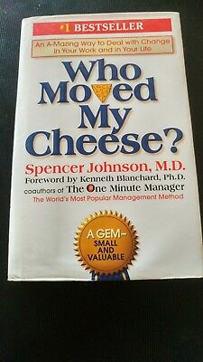 Who moved my cheese by spencer johnson vg hardcover book 199 who moved my cheese by spencer johnson md hc vg fandeluxe Image collections