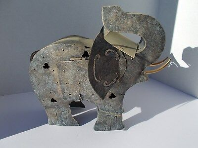 Elephant made of Tin with Details to add to your Growing Elephant Collection