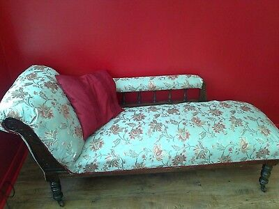 Antique Mahogany Victorian Chaise Longue