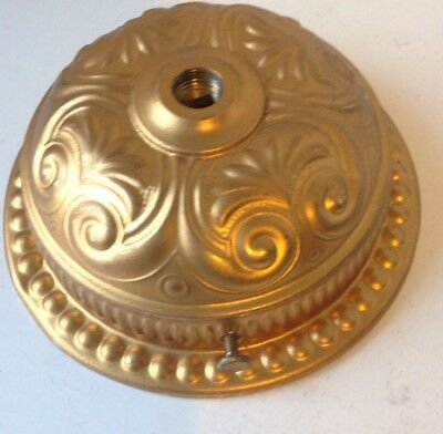 Antique Fancy Brass Oil Lamp Font Holder Wall Bracket Or Hanging Library Lamp