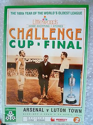 1988 FA Cup FINAL Arsenal v Luton Town, 100th Year of The World's Oldest League